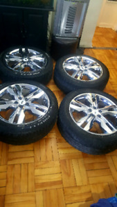 20in OEM ford edge rims with tires 245/50/20 with TPMS