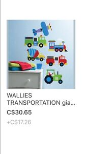 Removable transportation wall decals