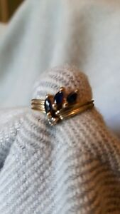 Vintage  Blue Sapphire Ring