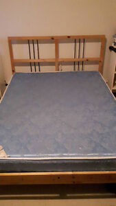 Ikea DALSELV Bed Frame and Mattress (Full/Double)