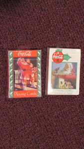 REDUCED -Pair of Christmas Coca-Cola Playing Card Decks - UNUSED