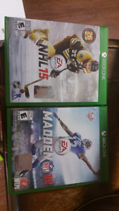 Madden 15 and NHL 15