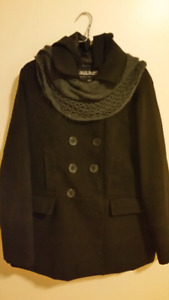 Woman's Winter Peacoat & Scarf