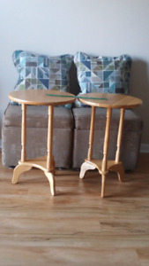 Two Matching Maple Side Tables