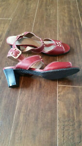 Brand New Red Sandals with Leather Upper - Size 9 - $20 Strathcona County Edmonton Area image 4