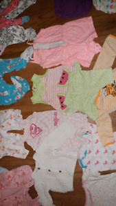 Lot of baby girl clothes and accessories