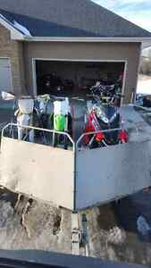 2000 transport double sled trailer