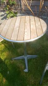 Garden table cm £60 across the top