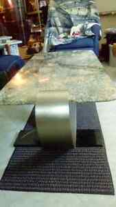 Granite coffee table with stainless steel base