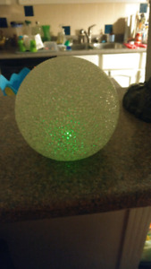 Kids night light changing ball