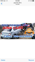 Damaged car Bayer scrap car removal end free tow 7802220825