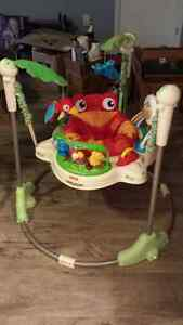 Fischer Price Rainforest Bouncer, Swing and Playmat Cambridge Kitchener Area image 1