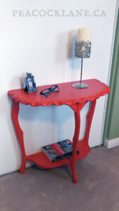 Orange Half-Moon side table