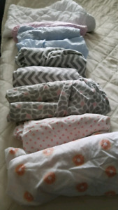 8 crib sheets and mattress protector