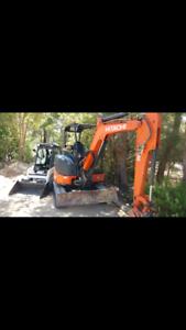 Bobcat/ Excavator hire with tipper