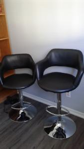 2 Black Bar Chairs