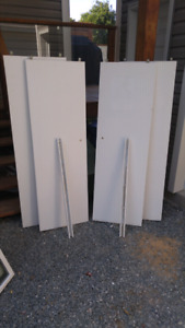 4 Solid wood Sliding Doors with 2 Tracks