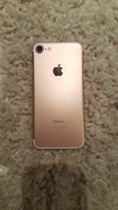 iPhone 7 128gb Rose Gold with AppleCare