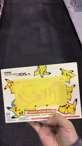 new Nintendo 3DS XL Pikachu Edition - Yellow Brand New in Box