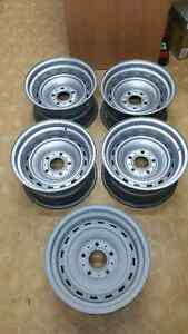 NEW GENUINE GM NOS RALLY RIMS 73 87 GMC CHEVROLET TRUCK 5 BOLT