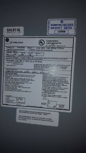 Heavy Duty GE 600v 400 amp 350 HP Non Fusible Disconect Switch Windsor Region Ontario image 4