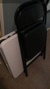 4 foot foldable table & 2 chairs