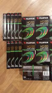 50 fujifilm vhs cassettes (high quality- haute qualité )