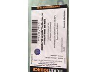 Van Morrison 'aspects' ticket