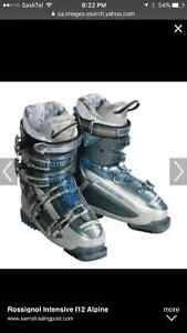 Looking for size 9 woman's or 26-26.5 downhill ski boots.
