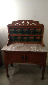 Sideboard with original antique tile