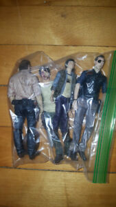 Small Walking Dead lot of 4 Action Figures