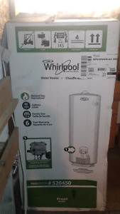 New Whirlpool 40 gal residential gas water heater