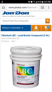 Fiberlock lead barrier compound