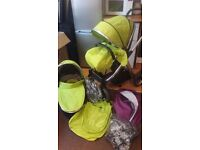 Oyster max 2 double pushchair + lots of extras