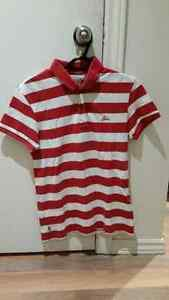 Levi's red and white polo