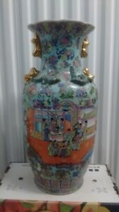 Old Large Size Tall Chinese Vase