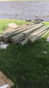 Six inch treated poles