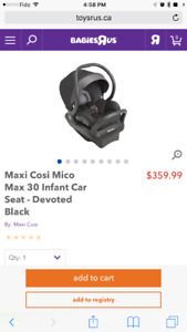 Maxi Cosi Micro Max 30 infant car seat like new