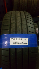 205 55 16 BRIDGESTONE TYRES 8MM £35 EACH INC FIT N BAL OPN 7 DAYS