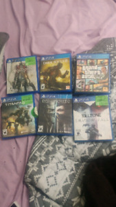 PS3 & PS4 games for sale.