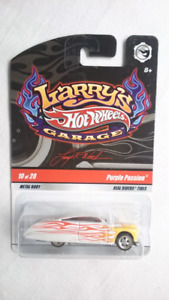 HOT WHEELS LARRY'S GARAGE PURPLE PASSION RR CHASE DIECAST MINT