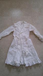 Girls White Children's Place Coat size 10/12