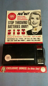 FEDTRO DELUXE BATTERY CHARGER - CIRCA 1965 - BEAUTIFUL ADCOPY