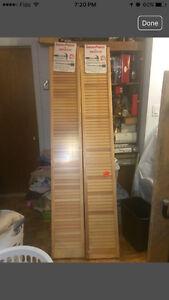 Pair of wooden Closet doors