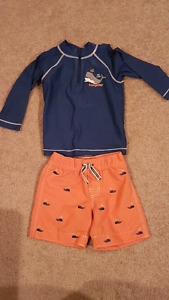 Boys 18-24 months swim top and shorts