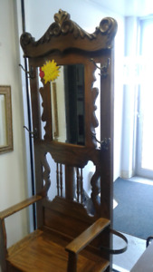 Stunning Oak Hall Tree $495 Tax Inc Delivery Available