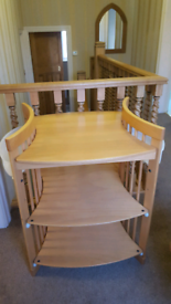 Stokke baby changing table in Beach wood.