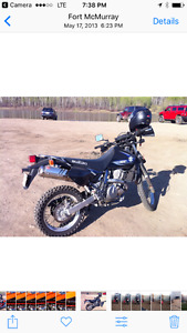 Sold ! 2009 Suzuki DR 650 street and trail for sale.