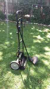 Reel lawn mower and weed trimmer