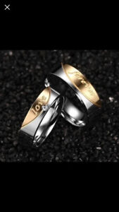 Couples Stainless Steel Ring Sets-$25/set